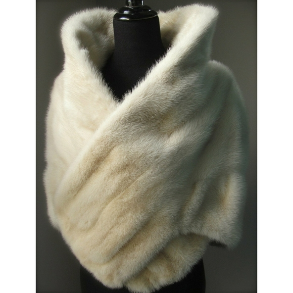 Luxury Genuine Mink Fur Stole